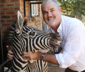Dr Clay Wilson (RIP) Founder/Director Chobe Wildlife Rescue